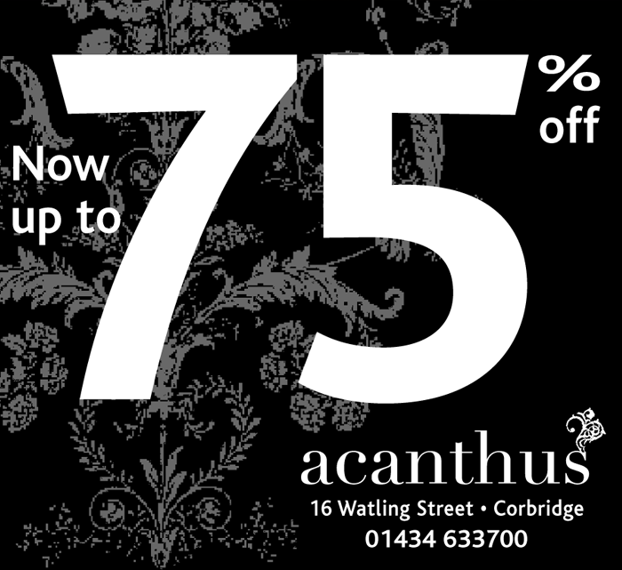 acanthus sale press ad
