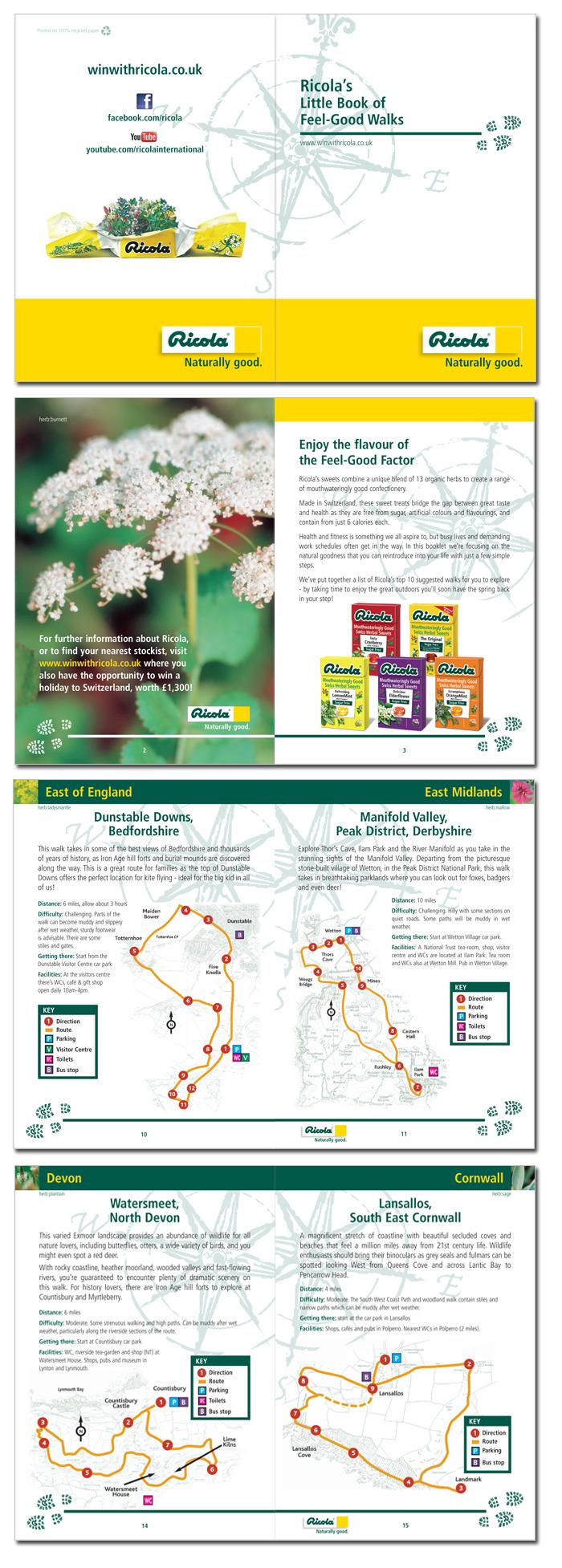 ricola leaflet/walks