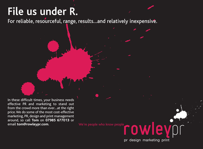 Rowley PR Press Ad